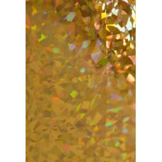 Dona Jerdona фольга 1.5 м голография золотая калейдоскоп мелкий