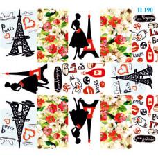 Dona Jerdona Слайдер дизайн (Девушки Paris) П 190