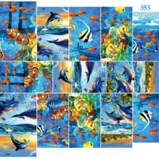 Dona Jerdona Слайдер дизайн (Дельфины) 353