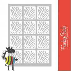 Трафареты для дизайна ногтей зебра 83*127 мм Funky Stick