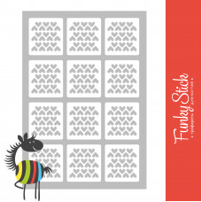 Трафареты для дизайна ногтей валентинки заливка 83*127 мм Funky Stick