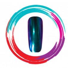 Зеркальная пудра/хамелеон, зеленый-фиолетовый-синий (1 гр.)