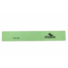 Dona Jerdona пилка для искусственных ногтей 100/100 прямоугольная широкая зеленая 100403