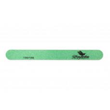 Dona Jerdona пилка для искусственных ногтей 100/100 овальная узкая зеленая 100404