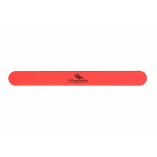 Пилочка для натуральных ногтей 220/220 овальная узкая оранжевая 100206