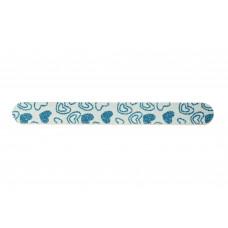 Dona Jerdona пилка для  натуральных ногтей 000/000 овальная узкая голубая сердце с блесками 100895