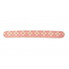 Dona Jerdona пилка для  натуральных ногтей 000/000 овальная узкая розовая ромбы с блестками 100896