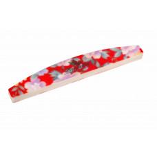 Dona Jerdona Шлифовка для ногтей полукруглая красная в цветочек Д2725-4