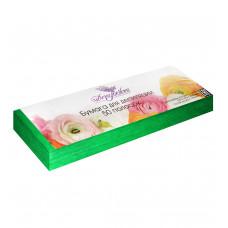 Dona Jerdona Бумага для депиляции в полосках 7*22, 80 грамм, (50 шт.) Зеленая