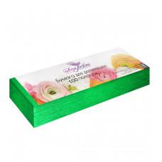 Dona Jerdona Бумага для депиляции в полосках 7*22, 80 грамм, (100 шт.) Зеленая