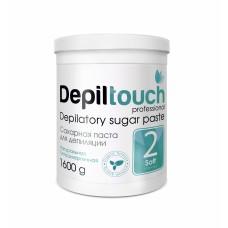 Сахарная паста для депиляции № 2 МЯГКАЯ (Depiltouch professional) 1600г