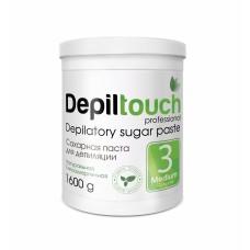 Сахарная паста для депиляции № 3 СРЕДНЯЯ (Depiltouch professional) 1600г
