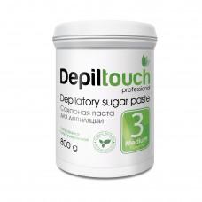 Сахарная паста для депиляции № 3 СРЕДНЯЯ (Depiltouch professional) 800г