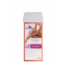Био-воск для тёплой депиляции чувствительной кожи дома в картридже Розовый широкий ролик (110гр) 4413