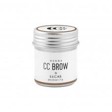 Хна для бровей CC BROW (GREY BROWN) в баночке (серо-коричневая), 5 ГР