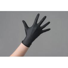 Перчатки черные нитриловые M