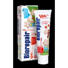 Biorepair Kids Strawberry. Детская зубная паста с экстрактом земляники