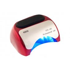 Лампа LED Красная + CCFL таймер 10,30,60 сек. и бесконечность 48 W